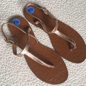 NWT Kate Spade rose gold sandals sz 7.5